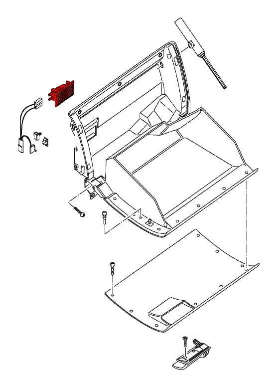 glove box light assembly 92863210100